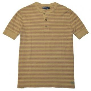 Polo Ralph Lauren Men Striped Henley T Shirt (XL, Beige