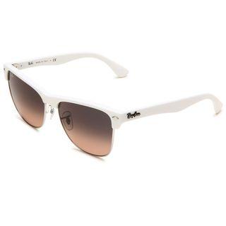 Ray Ban Womens Clubmaster Matte White Wayfarer Sunglasses