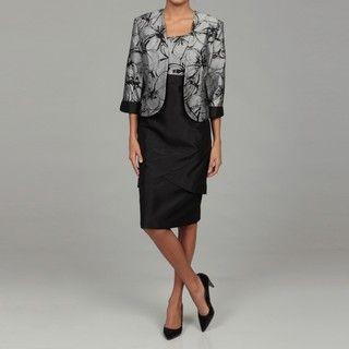 Dana Kay Womens Silver/ Black 2 piece Dress FINAL SALE