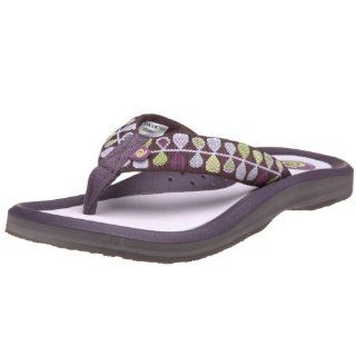 Rafters Womens Tsunami Leaves Sandal,Plum,6 M US Shoes