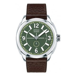 ESQ Mens Stainless Steel Swiss Green Watch