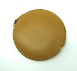 Coach Classic Polish Leather Round Coin Case Camel