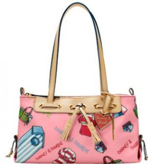 Bourke Miami Girly Small Zip Top Tassel Bag Purse Tote Pink Shoes