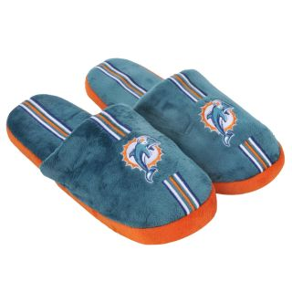 Miami Dolphins Striped Slide Slippers