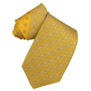 Versace Mens Greek Key and Scroll Silk Tie