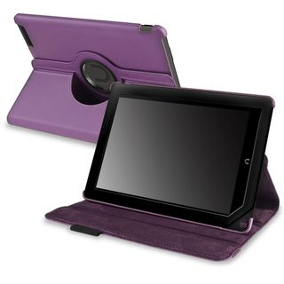 BasAcc Purple Leather Swivel Case for  Nook HD+