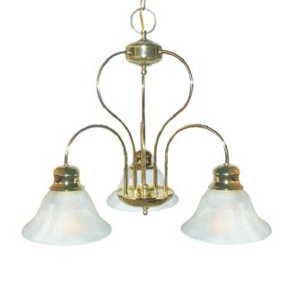 Woodbridge Lighting Basic 3 light Polished Brass Chandelier