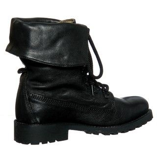 Diba Womens Miss Me Black Combat Boots