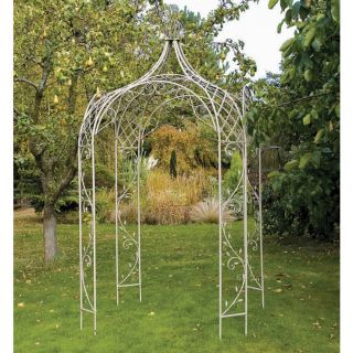 Laura Ashley Oyster Metal Garden Gazebo