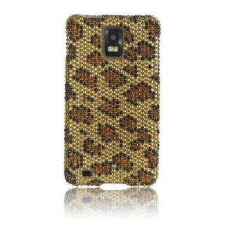 Luxmo leopard rhinestone protector case for samsung infuse 4g i997