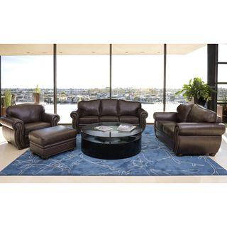 Abbyson Living Richfield 4 Piece Premium Top grain Leather Sofa