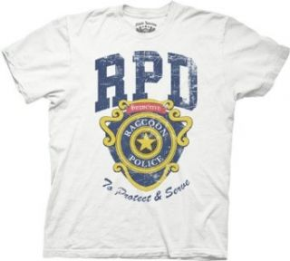 Resident Evil RPD Badge Mens T shirt (X Large, White