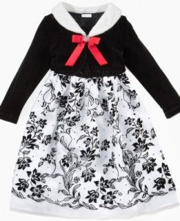 Laura Ashley Girls Holiday Ballgown Dress Black White