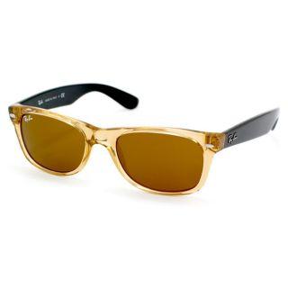 Ray Ban Unisex New Wayfarer Crystal Brown Plastic Sunglasses