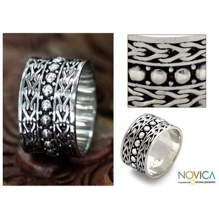 Mens Sterling Silver Warrior Ring (Indonesia)