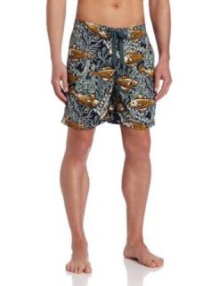 Reyn Spooner Mens Limu Forest 7 inch Swim Trunk Clothing