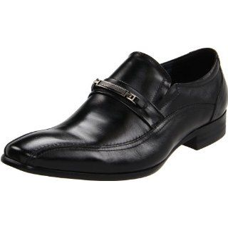 com Steve Madden Mens Harveyy Slip On,Black Leather,7.5 M US Shoes