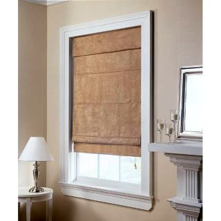 Taupe Suede Roman Shade (34 in. x 72 in.)