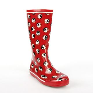 Florida State Seminoles Womens Scattered Logo Rain Boots