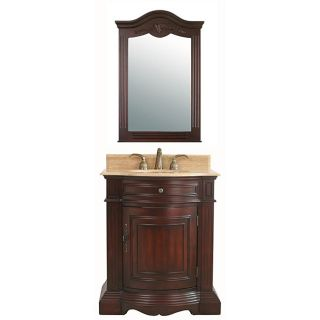 Gemini 30 inch Traditional Cherry Single sink Bathroom Vanity Set