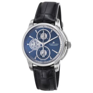 Maurice Lacroix Mens Pontos Blue Dial Chronograph Automatic Watch