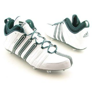 SCORCH 8 D MID FOOTBALL CLEATS 14 (RUN WHITE/FOREST/MET SILVER) Shoes