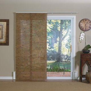 Pecan Bamboo Windows and Patio Doors Track Panels
