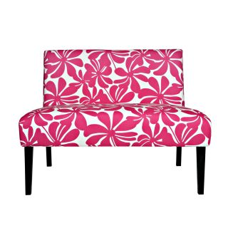 Portfolio Niles Pink Floral Armless Settee