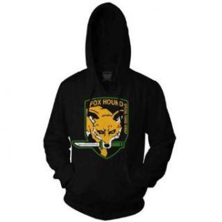 Metal Gear Solid Fox Hound Men Black Hoodie (S) Clothing