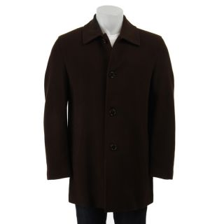 Cole Haan Mens 34 inch Wool/ Cashmere Blend Coat