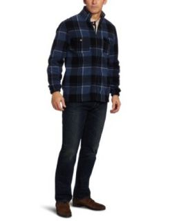 IZOD Mens Plaid Full Zip Jacket Clothing