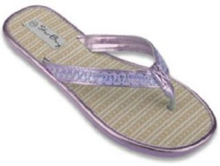 Bamboo String Thong Flip Flops with Sequin Straps Shoes