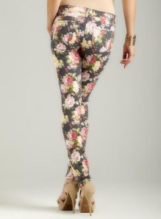 Almost Famous Floral Print Skinny Jean