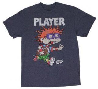 Player   Rugrats T shirt Adult 2XL   Navy Blue Clothing
