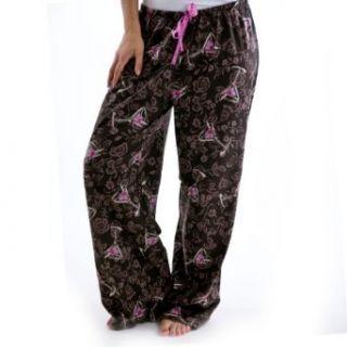 Hue Sleepwear Damask Drinks Long PJ Pants   Plus Size
