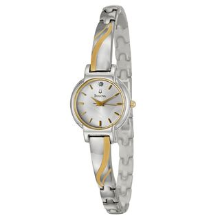 Bulova Womens Dress Two tone Stainless Steel Watch