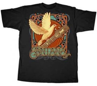 Carlos Santana Dovetail Mens Black T shirt XXL Clothing