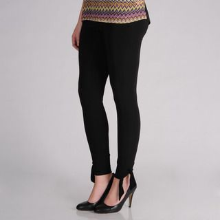 AnnaLee + Hope Womens Black Bow Detail Leggings