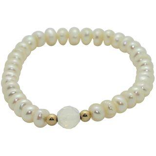 Junior Jewels Childrens White Freshwater Pearl Bracelet (6 mm