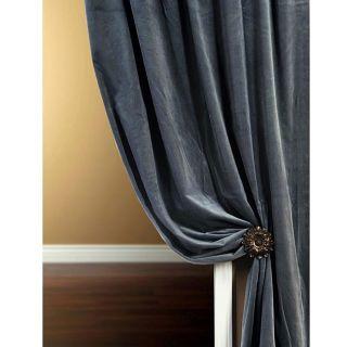 Signature Slate Blue Velvet 84 inch Curtain Panel