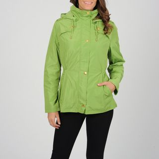 Utex Womens Light Green Water resistant Hooded Anorak