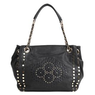 Nicole Lee Glen Black Studded Shopper Bag
