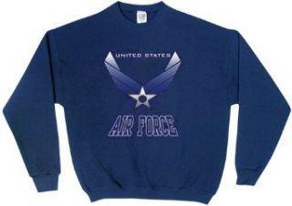 Air Force Wings   Sweatshirt, Navy, Large Clothing