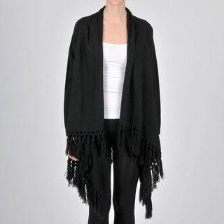 AnnaLee + Hope Womens Long sleeve Fringe Sweater
