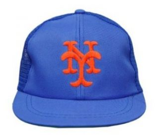 MLB Boys New York Mets Snapback Trucker Hat Cap   Blue