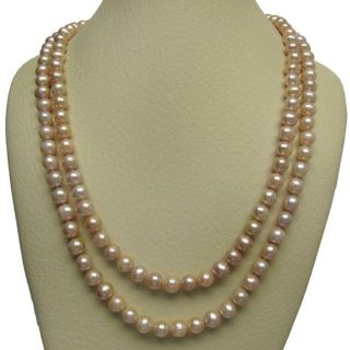 Pink Freshwater Pearl 72 inch Endless Necklace (9 10 mm)