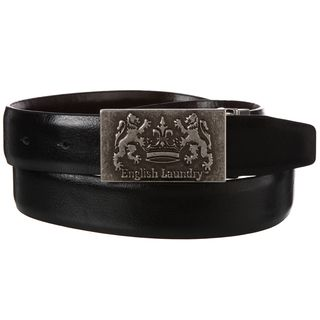 English Laundry Mens Black Brown Reversible Belt