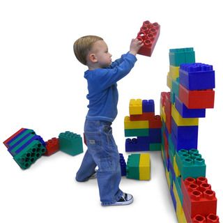 Kids Adventure 96 piece Standard Jumbo Multicolor Building Blocks Set