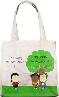 Angry Little Girls Recycling Boyfriend Shopping Tote Bag Shoes