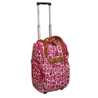 Runway Ladys Lightweight Fuchsia Carry on Rolling Luggage Bag